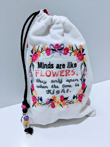Handmade embroidered personalized gift bag easter gift bags handmade embroidered personalized gift bag easter gift bags spring drawstring bags minds negle Image collections