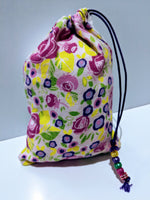 Handmade Embroidered Personalized Gift Bag | Easter Gift bags| Spring Drawstring bags | Bloom | - Baby See See