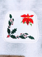 Handmade Embroidered Apron| Personalized Aprons with Pockets| Poinsettia Pretty - Baby See See