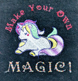 Handmade Embroidered Personalized Gift Bag | Birthday party favor bags| Unicorn magic - Baby See See