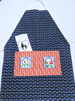 Handmade Embroidered Apron| Personalized Aprons with Pockets| Organic Mother - Baby See See
