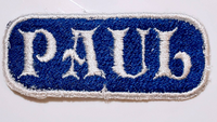 "2.5"" x 1""- 2 Color - Custom Embroidered Name/Text Patch"