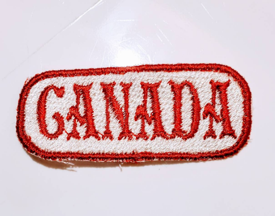 "2.5"" x 1""- 2 Color - Custom CANADA Patch"