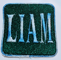 "2.5"" x 2.5""- 2 Color - Custom Embroidered Name/Text Patch"