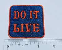 "2.5"" x 2.5""- 2 Color - 2 Line- Custom Embroidered Name/Text Patch"