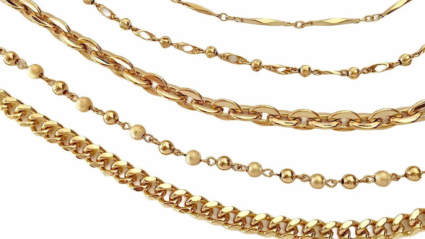 Chains by Design Gold by the Inch Collection