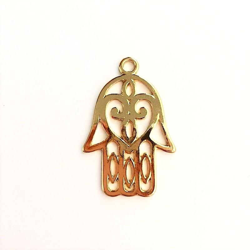 Hamsa hand pendant in gold or silver chains by design hamsa hand pendant in gold aloadofball Images
