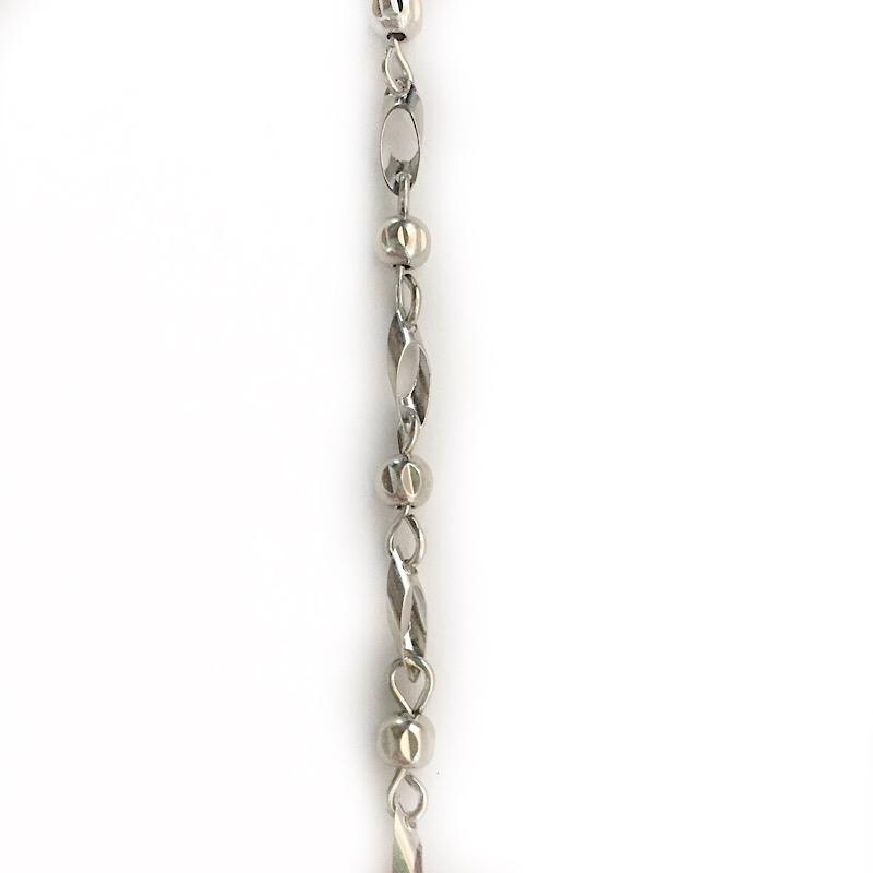 Station Bead Link Silver Chain by the Inch - Chains by Design