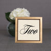 Beaded Wooden Table Number Frame - Gold