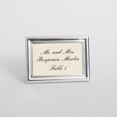 Royal Silver Place Card Frame