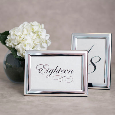 Tudor Polished Silver Table Number Frame