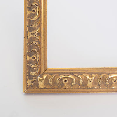 Vienna Ornate Wooden Information Frame - Gold