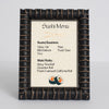 Bamboo Wooden Information Frame - Distressed Ebony