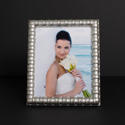 Bamboo Wooden Information Frame - Silver