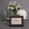 Bamboo Wooden Table Number Frame - Distressed Ebony
