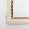 Beaded Wooden Table Number Frame - Cream