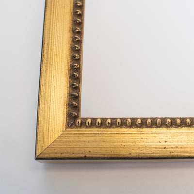 Beaded Wooden Information Frame - Gold