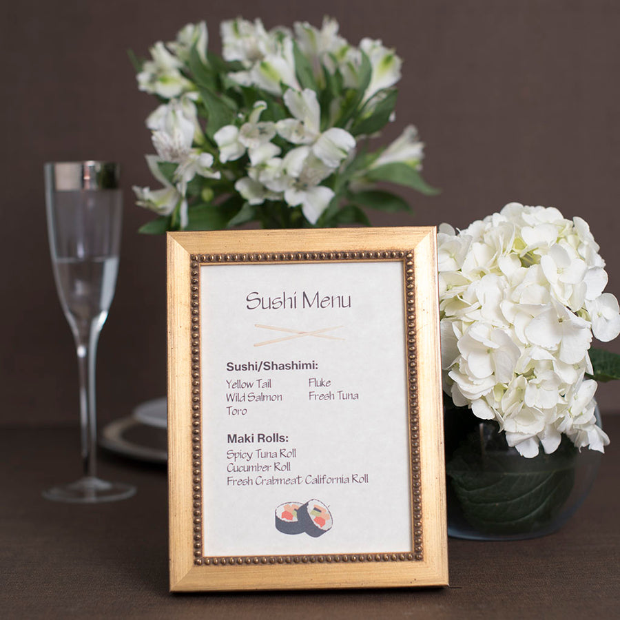 e0b9d3526864 Gold Colored Frames - Hospitality Frames