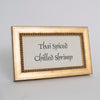 Beaded Wooden Buffet Sign Frame - Gold