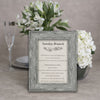Driftwood Wooden Information Frame - Grey