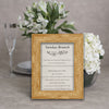 Barnwood Wooden Information Frame - Brown