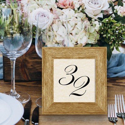 Barnwood Wooden Table Number Frame - Brown