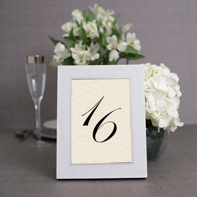 Cape Cod White Distressed Wooden Table Number Frame