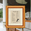 Sculptured Bird's Eye Maple Directional Sign Frame