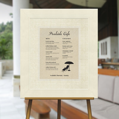 Coconut White Distressed Directional Sign Frame