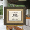 Grand Bay Mahogany Directional Sign Frame