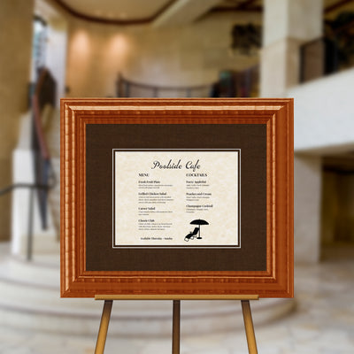 Havana Cruz Teak Directional Sign Frame