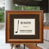 Sculptured Pecan Directional Sign Frame
