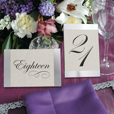 Brushed Silver Table Number Frame
