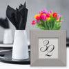 Architectural Stainless Steel Table Number Frame