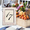 Elk Mountain Distressed Wooden Table Number Frame - White Wash