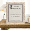 Elk Mountain Distressed Wooden Information Frame - White Wash