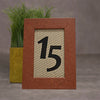 Pigskin Wooden Table Number Frame