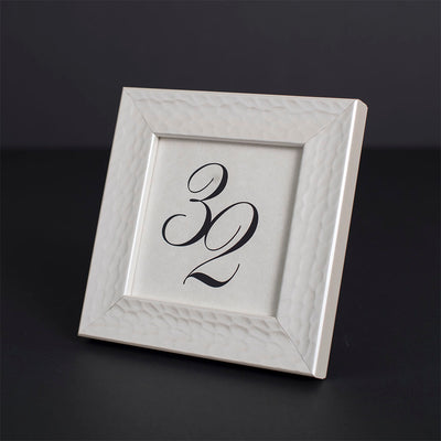 Hammered Pearl Distressed Information Frame
