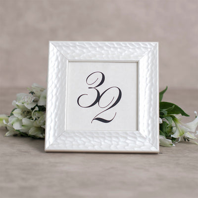 Hammered Pearl Table Number Frame