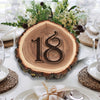 Rustic Elmwood Log Table Number Frame