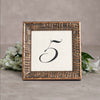 Regent Wooden Table Number Frame - Bronze