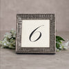 Regent Wooden Table Number Frame - Pewter