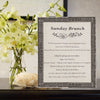 Regent Wooden Information Frame - Pewter