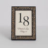Renaissance Ornate Wooden Table Number Frame - Pewter