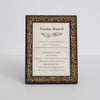 Renaissance Ornate Wooden Information Frame - Gold