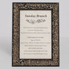 Renaissance Ornate Wooden Information Frame - Pewter