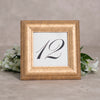 Sculptured Collection Wooden Table Number Frame - Gold
