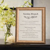 Sculptured Collection Wooden Information Frame - Gold