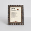 Tuscan Ornate Wooden Information Frame - Bronze