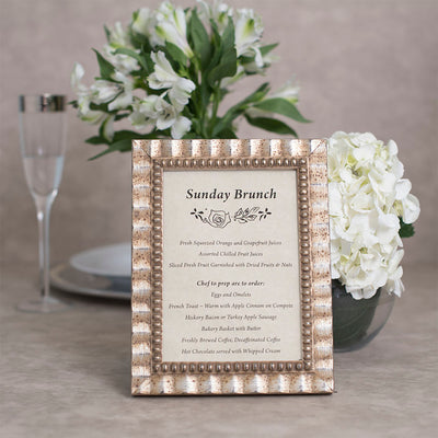 Tuscan Ornate Wooden Information Frame - Silver